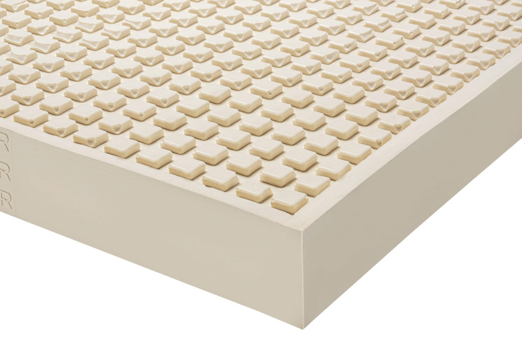 Mango natural latex embossed mattress to help against bedsores.